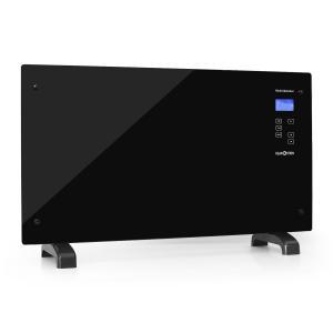 HT007GL calefactor de pared convector cristal panel táctil 2000W negro