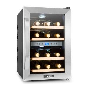 Reserva frigorifico vino nevera para vino 12 botellas 130W acero inox.