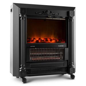 Grenoble estufa decorativa chimenea electrica efecto llama 2000W negro