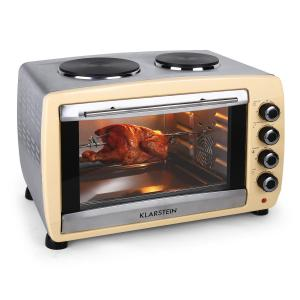 Omnichef 45HC Horno 2 placas de cocción 2000W  crema Crema