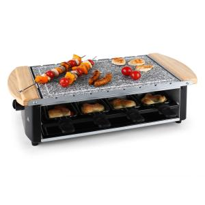 Raclette 8 personas placa de piedra natural 1200 W