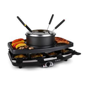 Entrecote Raclette con grill Piedra natural Fondue 1100W 8 personas