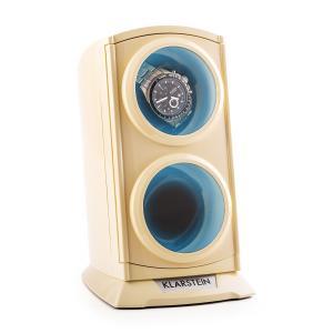 St. Gallen Premium Vitrina para 2 relojes LED Crema Crema