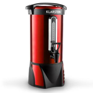 Big-Bacchus Dispensador bebidas calientes 8,8l acero inox. rojo portátil