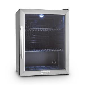 Beersafe XL mini nevera frigorifico pequeño puerta vidrio acero inox. Plata |