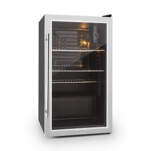Beersafe XXL mini nevera frigorifico pequeño puerta vidrio 85 L negro Plata | 80_litres