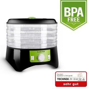 Appleberry Deshidratador negro/verde 400W 4 bandejas Negro