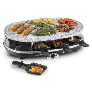 Steaklette Raclette con grill 1500W Placa de granito natural 8 personas