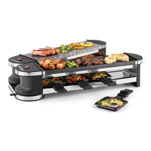 Tenderloin 50/50 Raclette con parrilla para 8 personas 1200W Piedra natural