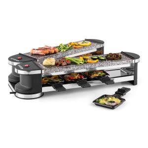 Tenderloin 100 Raclette con parrilla para 8 personas 1200W 2x plancha de piedra natural