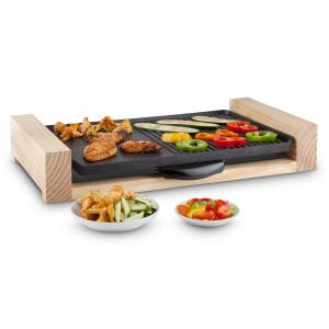Lumberjack Grill eléctrico Grill de mesa 2300W Madera rústica