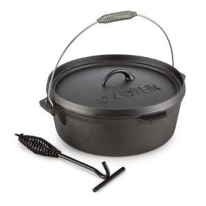 Hotrod 60 Olla de hierro Olla de BBQ 6 qt / 5,7 L Hierro fundido negro