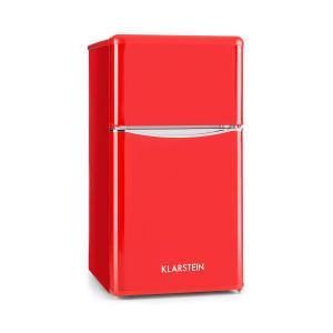 Monroe Red Frigorífico/Nevera combi de 61/24 l, clase A+, estilo retro, en rojo Rojo