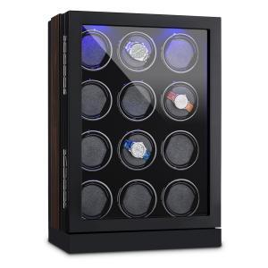Klagenfurt Estuche para relojes rotación hacia derecha e izquierda 12 relojes LED Pantalla táctil