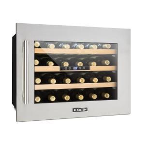 Vinsider 24D Refrigerador de vinos vinoteca para 24 botellas de acero