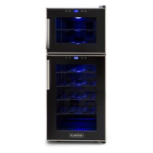 Reserva 21 Vinoteca con 2 Zonas de Refrigeración 56 Litros 21 botellas clase D color negro