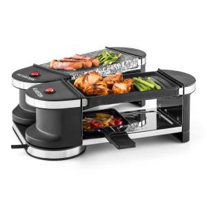 Tenderloin Mini Raclette-Grill 600W 360°-Basis bandeja de grill y piedra caliente