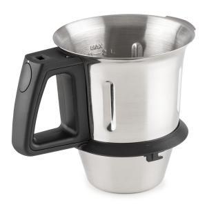 Kitchen Hero recipiente de mezcla para máquina de cocina accesorio 2l acero inoxidable