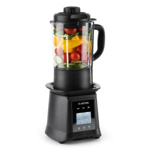 Herakles Heat batidora de vaso 1300W/1,7PS 900W 1,75l libre de BPA vidrio negro