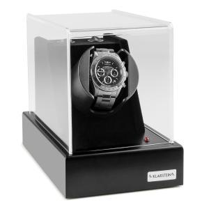 Ermitage Caja con rotor para 1 reloj automático, 2 modos de giro, funcionamiento por red o batería, en negro