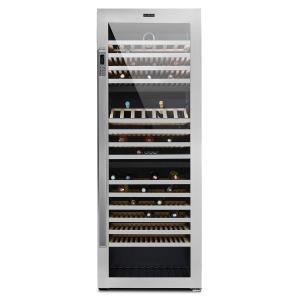 Botella Trium Vinoteca con 3 zonas de refrigeración, 617 l, clase B, cristal UV, en acero inoxidable