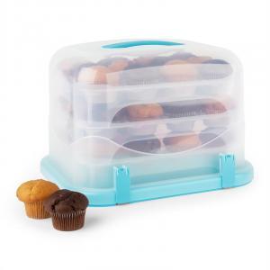 Blaukäppchen XL caja para tarta y cupcake 36 unidades 34,5x25x25,5cm azul