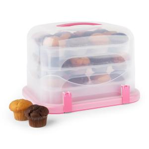Blaukäppchen XL caja para tarta y cupcake 36 unidades 34,5x25x25,5cm  rosa