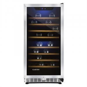 Reserva 73D Refrigerador para vinos 200L 73 botellas de 2 Zonas de acero negro