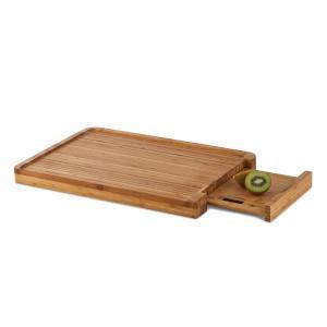 Chopmaster Tabla de cortar y Báscula de cocina 5 kg bambú