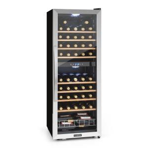 Vinamour 54D nevera de vinos 2 zonas 148 l 54 botellas frente de acero inoxidable