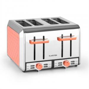Curacao Azur Toaster 4 rodajas acero inoxidable 1500 Watt melocotón