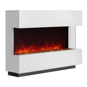 Studio-1 chimenea eléctrica simulación de llamas LED 750/1500 W 40m² blanca