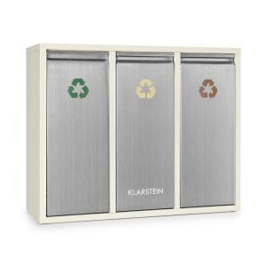 Ordnungshüter 3 cubo de basura reciclaje de basura 45L (3x15L) crema beige