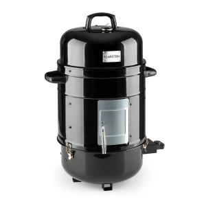 Barney Parrilla BBQ 3 en 1 Parrilla Carbon y Eléctrica Ahumador 1800W 3x40cm Termómetro