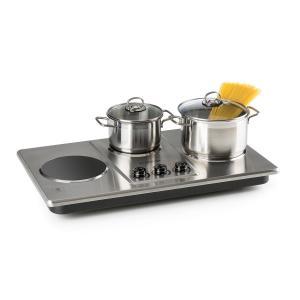Potzblitz Placa de cocina 3300 W Regulación continua Acero inoxidable Plata