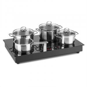 Deejay Placa de inducción 3500W vitrocerámica Touch Cocina Electrica Potente Negra