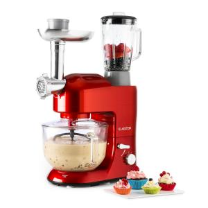Lucia Rossa 2G Robot de cocina Mezclador Picadora 1200W Sin BPA Potente Alta Calidad Rojo