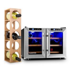 Reserva Saloon Conjunto de 2 piezas de nevera y estantería para vino